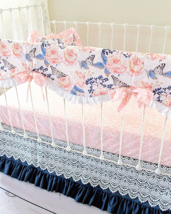 READY to SHIP Girls Crib SHEET Bedding Boho  Botanical Floral Nursery Baby Bedding Greenery Fitted Crib Sheets Pink  Girls Cot Sheets