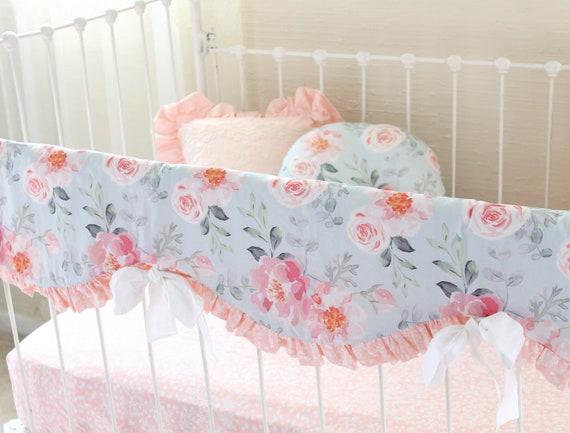 Floral Nursery Bedding Delectable Floral Crib Bedding Blush Pink Baby Bedding Girl Watercolor Etsy