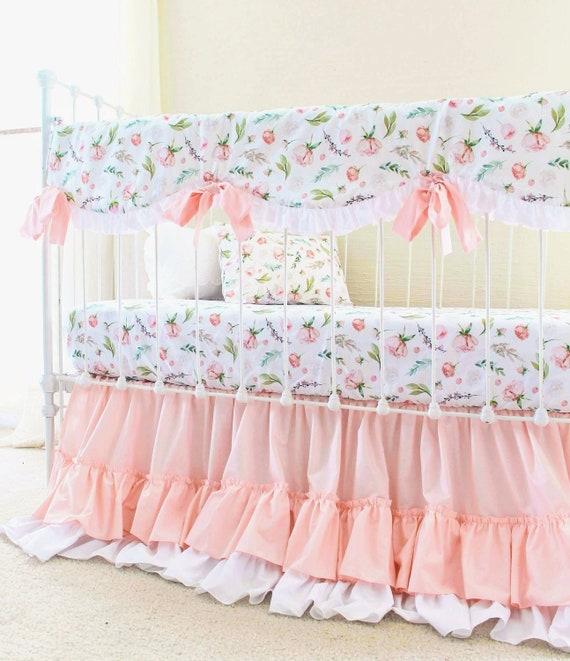 Girl Nursery Bedding Baby Crib, Blush Pink Baby Bedding