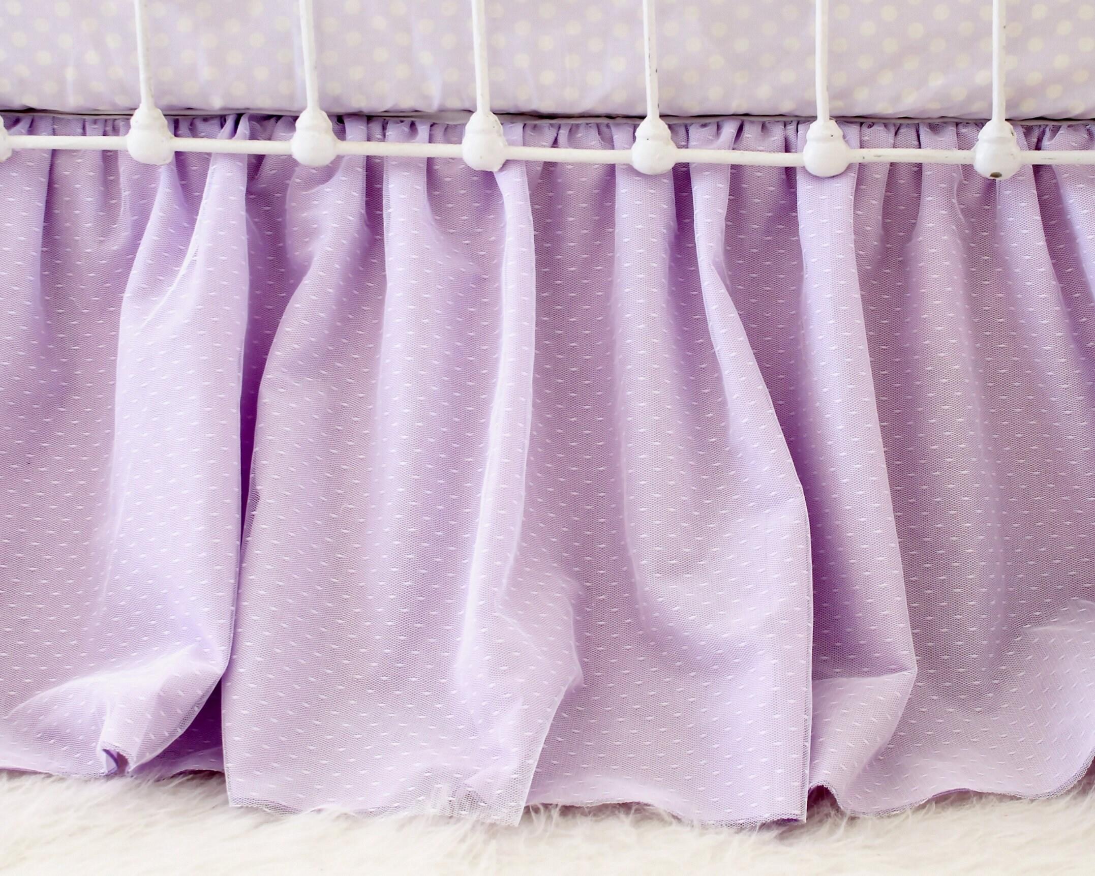 Bébé fille lit literie ensemble en lilas violet Aqua, aquarelle florale océan rêves bébé literie, ensemble de lit pour chambre d'enfant sur le thème sirène mauve
