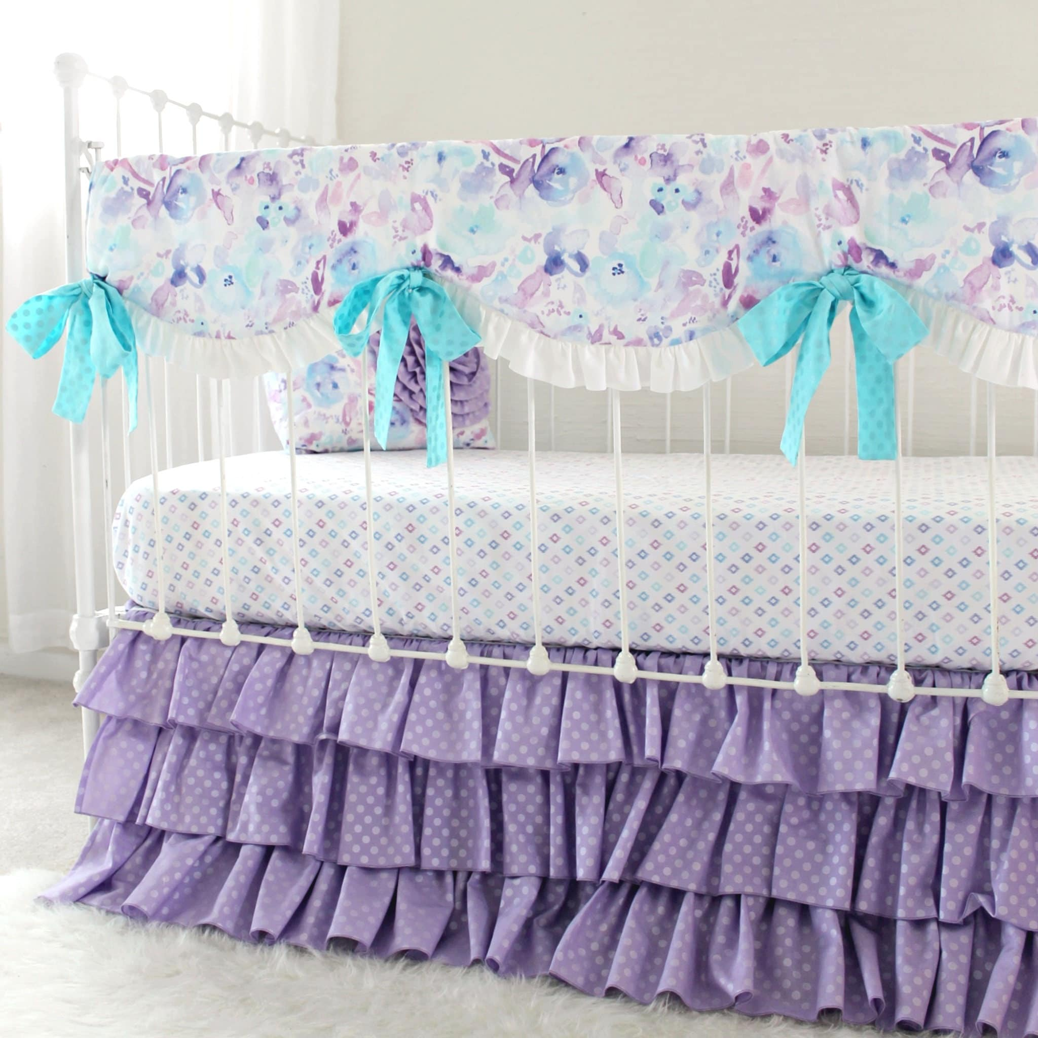 0df103b82 Purple Crib Bedding Girls Custom Bedding Set Purple | Etsy