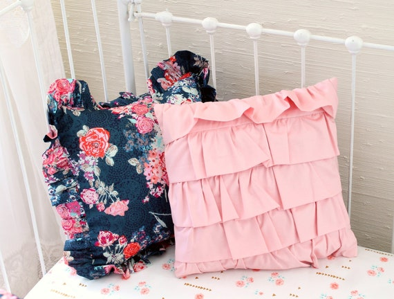 Navy And Pink Decorative Pillows: Blush Pink And Navy Nursery Bedding Throw Pillows Navy