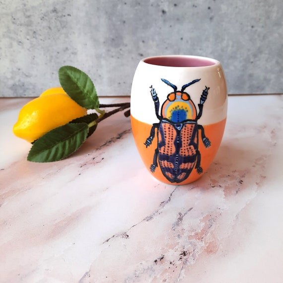 New! BUG OUT WARE Duo Tone Tumbler: Orange Beetle