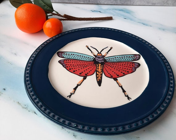 BUG OUT WARE Dinner Plate: Disco Cricket