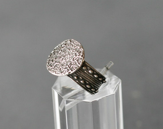 Texture POP! Sterling Silver Ring