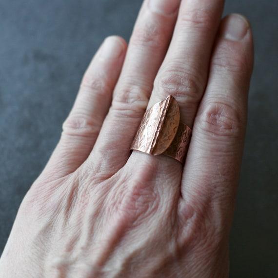 Fold Formed Copper Ring (Adjustable)