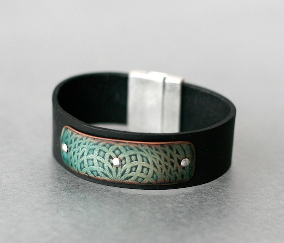 Oz Mandala Enamel & Leather Bracelet