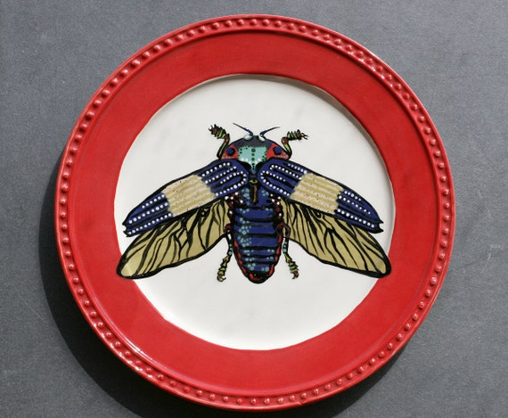 BUT OUT WARE- Jewel Beetle Plate