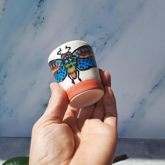 Orange Pantone Cicada Shot Glass