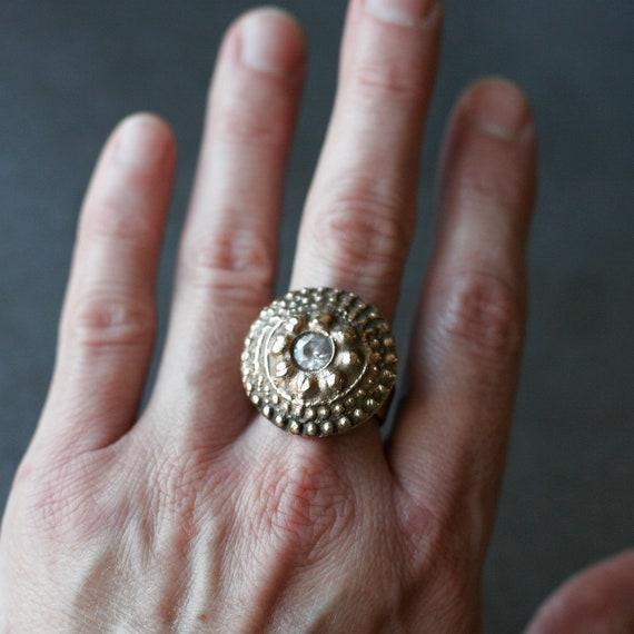 Bronze Bling Statement Ring