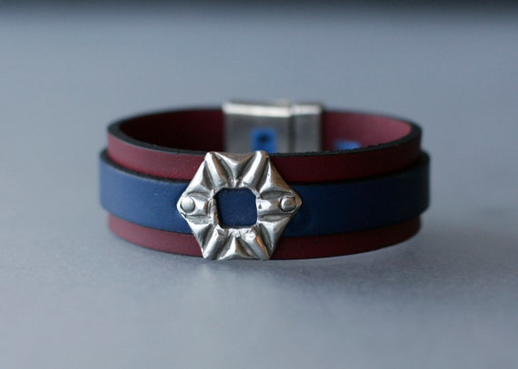 COLOR POP! Leather with Sterling Silver Bracelet