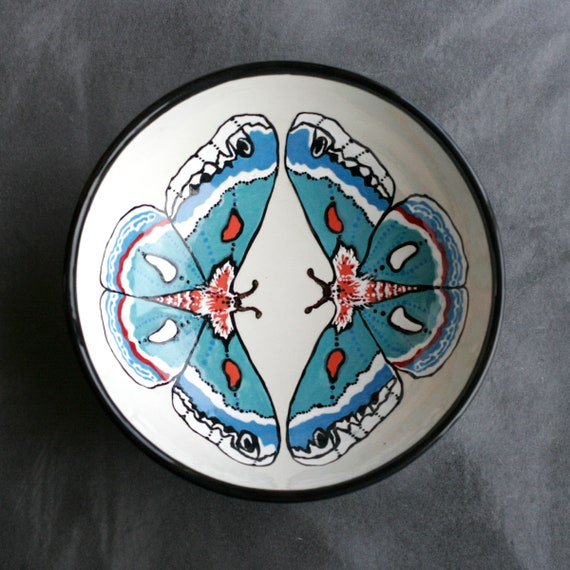 BUG OUT WARE Large Serving Bowl:  Mothy Ladies in Blue