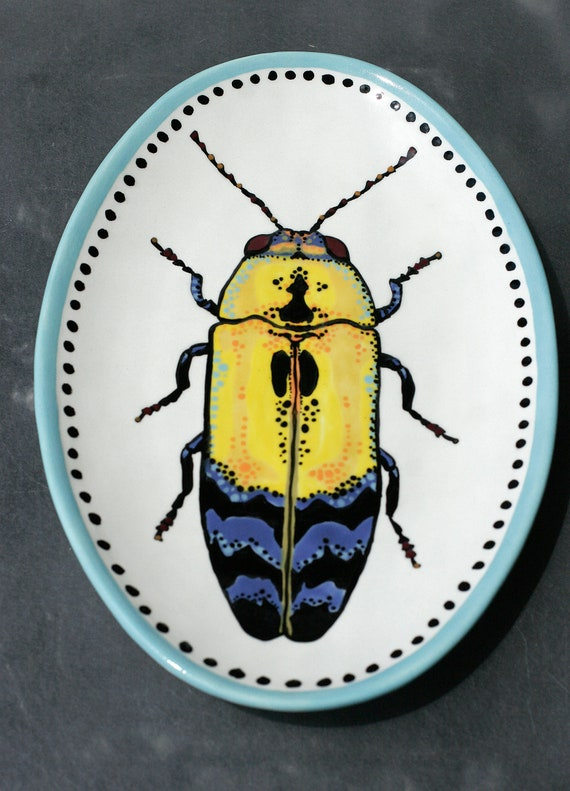 BUG OUT WARE- Decorative Hand-Painted Platter 06