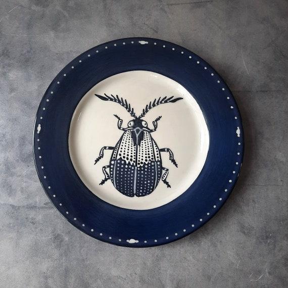Cobalt Dream BUG OUT WARE Salad Plate- Boden Beetle
