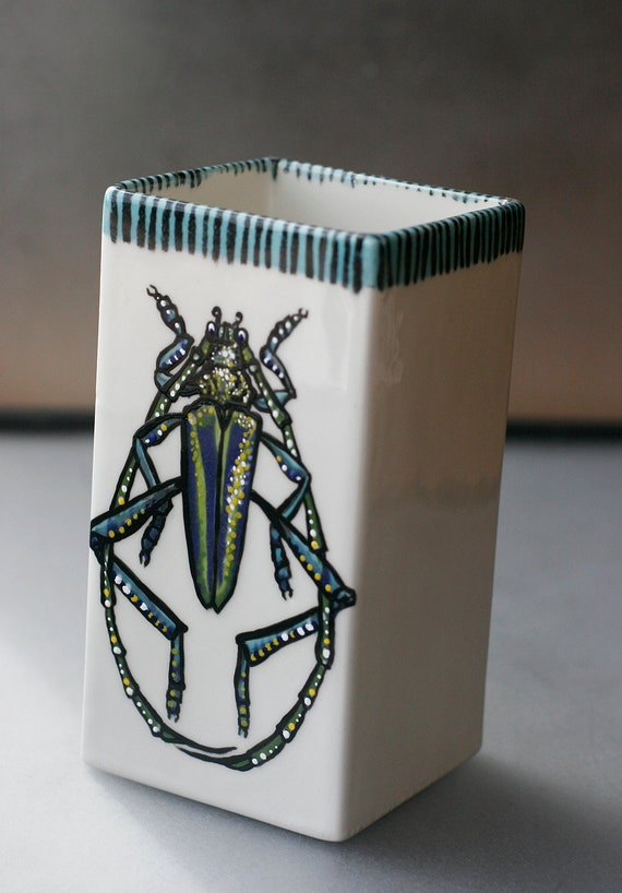 BUG OUT WARE- Square Vase