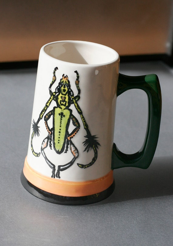 BUG OUT WARE- Hand Painted Beer Stein O&G