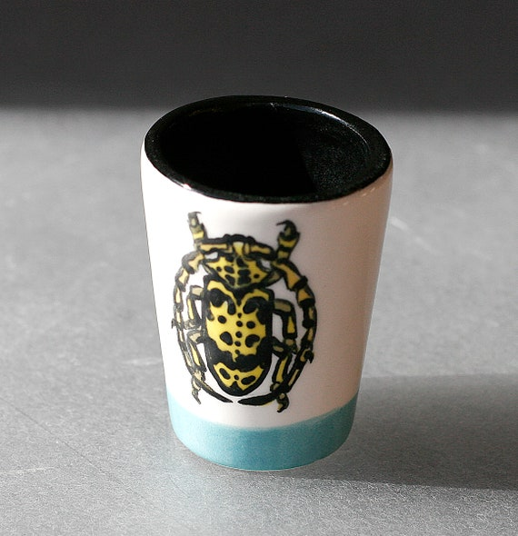 BUG OUT WARE- Shot Glass #4 Blue