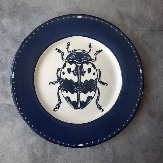 Cobalt Dream BUG OUT WARE Salad Plate- Betty Beetle