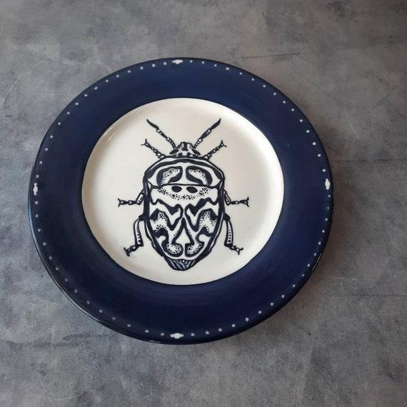 Cobalt Dream BUG OUT WARE Salad Plate- Bianca Beetle