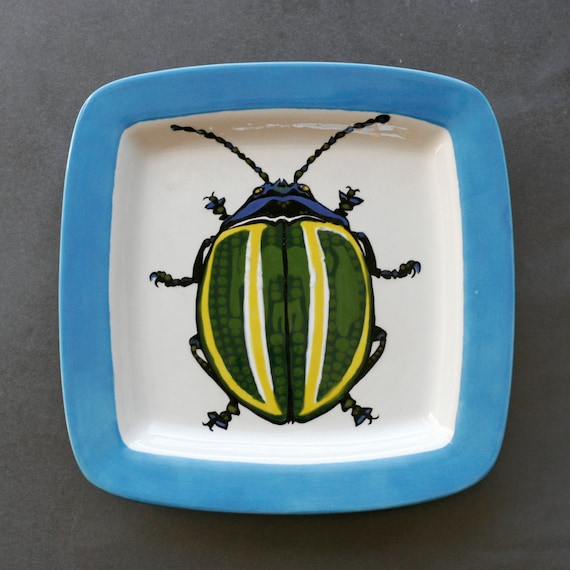 BUG OUT WARE Square Stackable Dinner Plate-Bug Out of Emerald City
