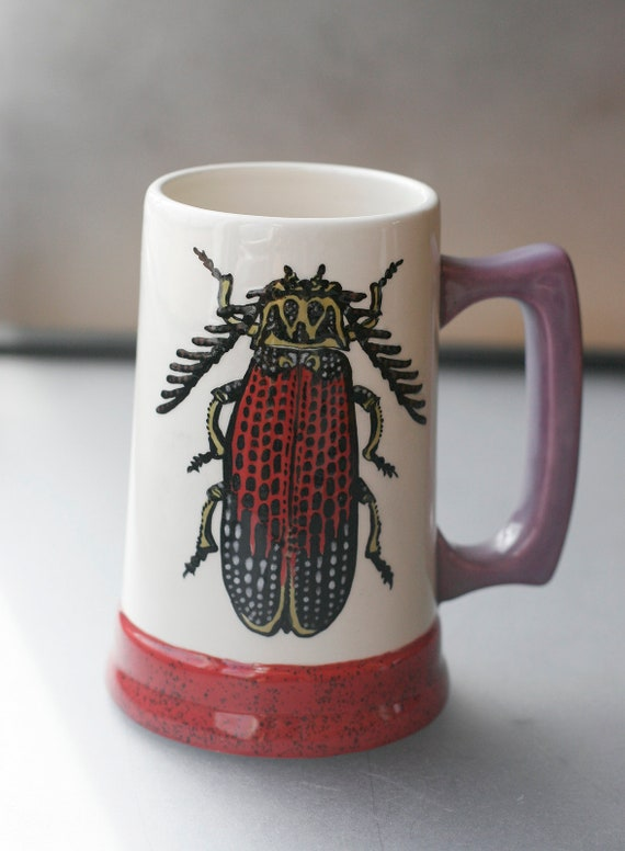 BUG OUT WARE- Hand Painted Beer Stein