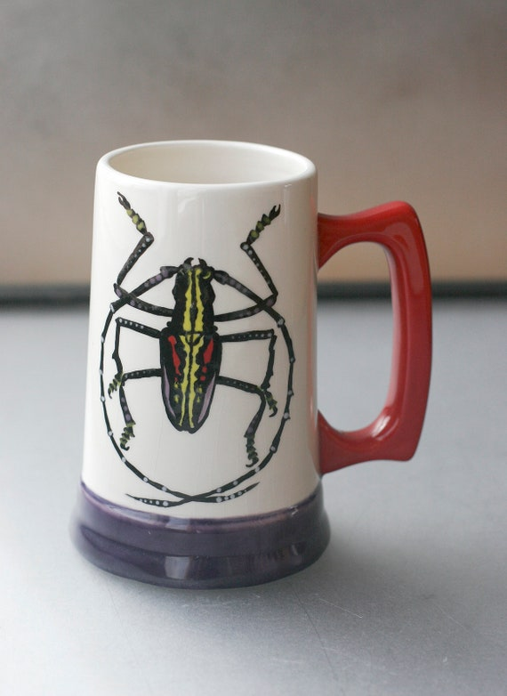 BUG OUT WARE-Hand Painted Beer Stein R&P