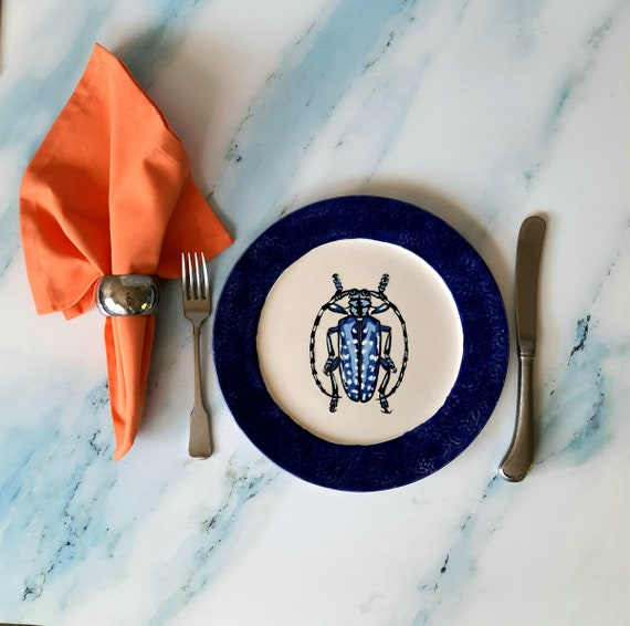 "New! BUG OUT WARE 10"" Plate: Blue Beetle"