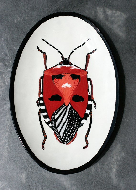 BUG OUT WARE- Decorative Hand-Painted Platter 05