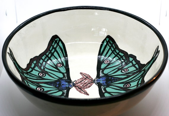 BUG OUT WARE X-Large Serving Bowl: Luna Landing