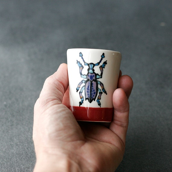 BUG OUT WARE Happy Foot Bug Shot Glass