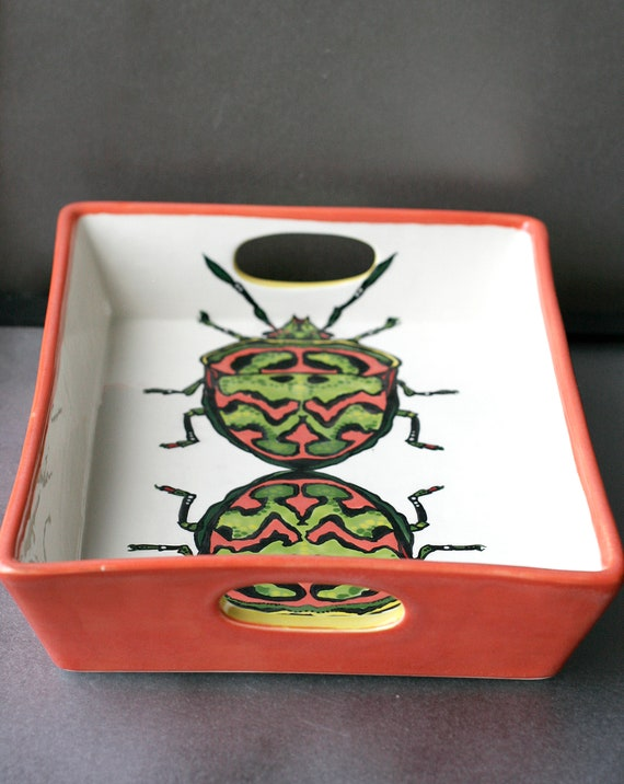 BUG OUT WARE Serving Tray: Mel's Fashion Beetles