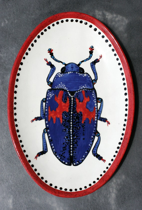 BUG OUT WARE- Decorative Hand-Painted Platter 04