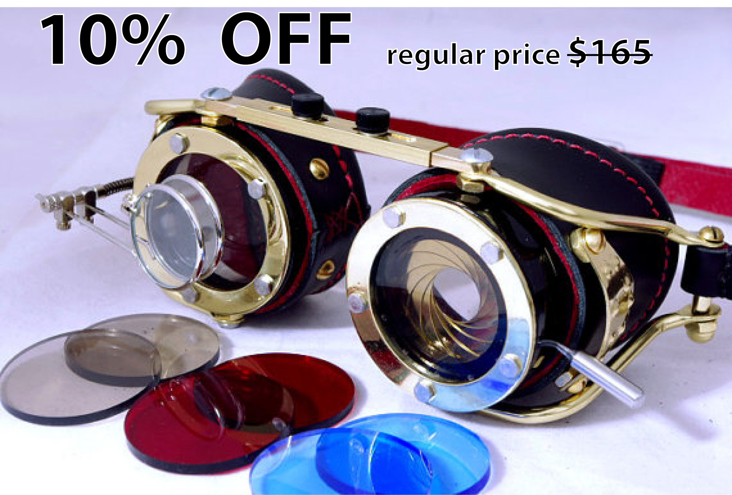 1642c08efc2c Steampunk goggle with IRIS APERTURE and magnifier Brass LARP