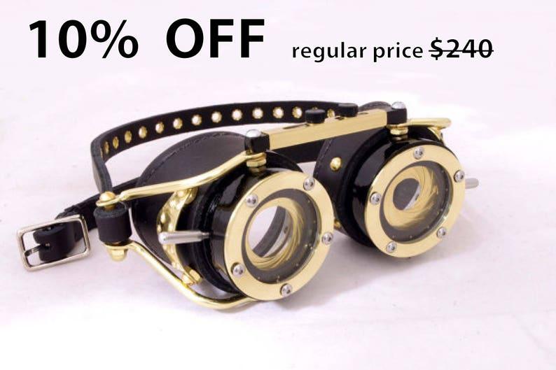9f8dd0b0478c Steampunk Goggles Dual IRIS APERTURE Victorian Theatrical Goth