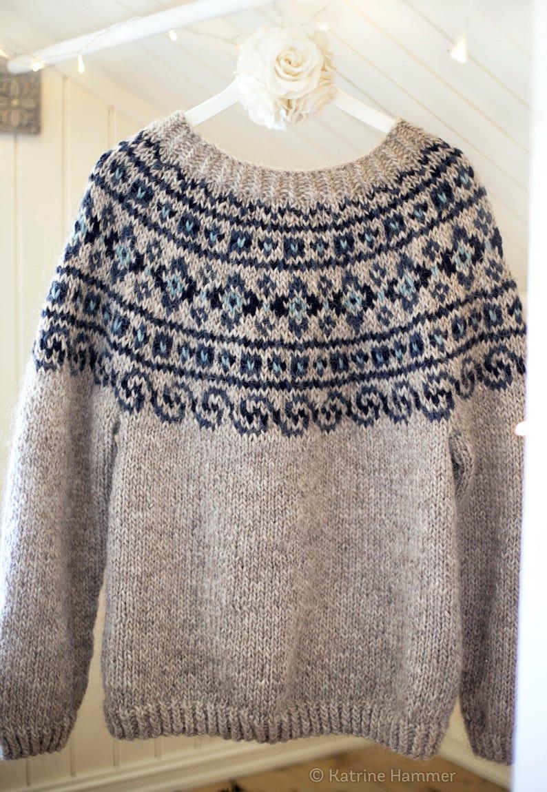 Knitting Pattern Steinkriger Beautiful Norwegian Sweater ...
