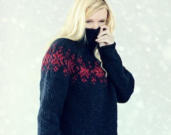 KNITTING PATTERN - Twilight Sweater  - PDF Pattern - Norwegian - Icelandic Sweater - Instant Digital Download