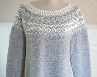 Knitting Pattern - Selja - Beautiful Norwegian Sweater  - Instant Digital Download - PDF - Pattern