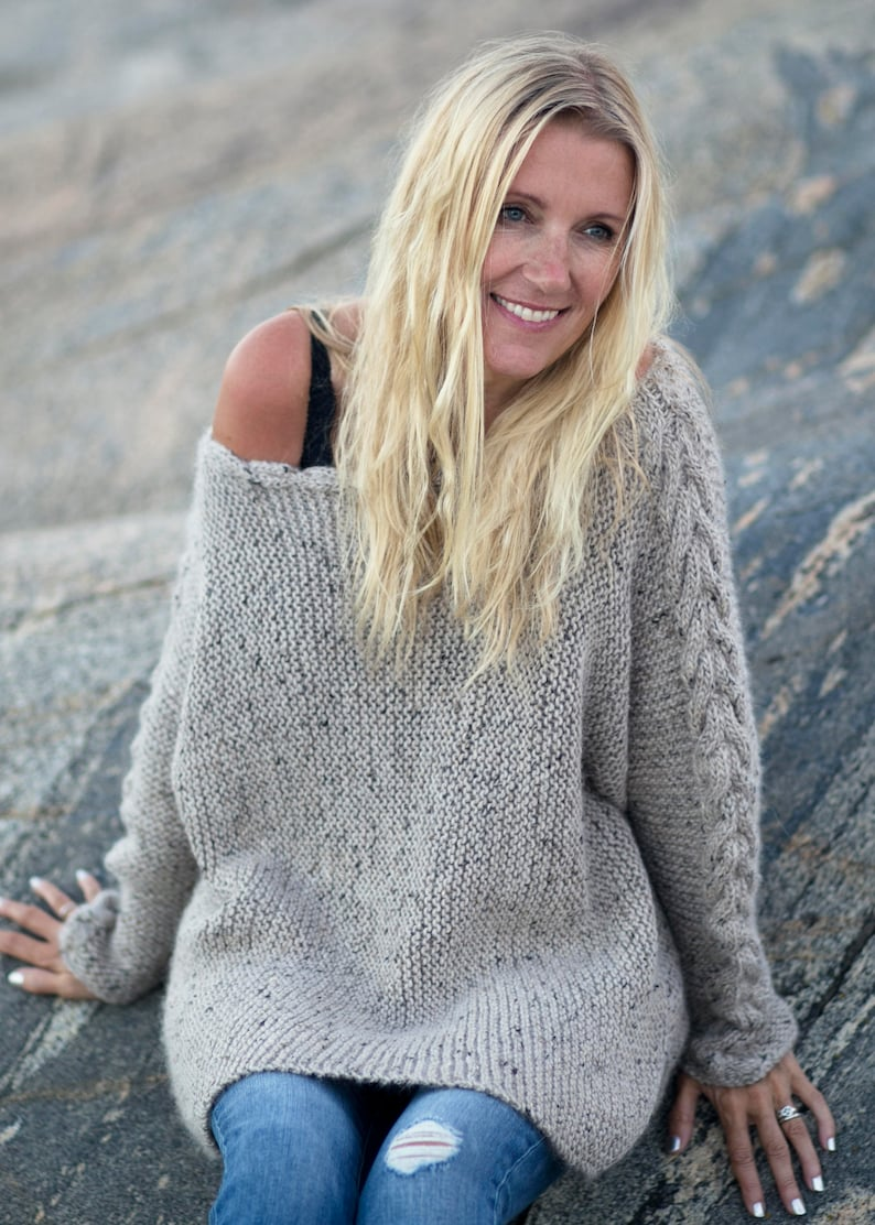 KNITTING PATTERN  River Braid Sweater  English Written image 0