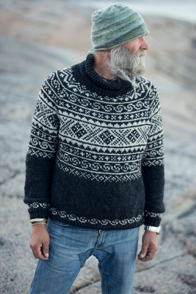 02dd738f6 Knitting Pattern Beautiful Norwegian Setesdals Sweater