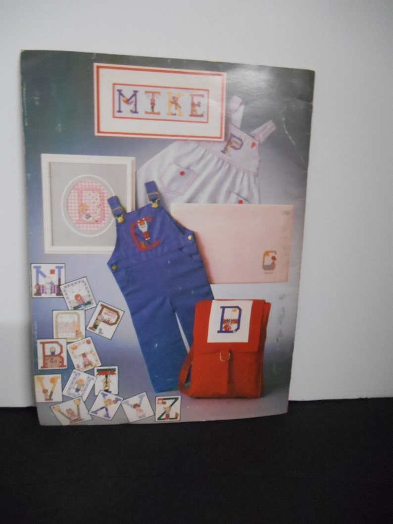 Alphabets for Boys /& Girls by Rachel Crissinger Vintage 1979Leisure Arts #152~Charted Graphed