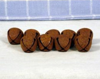 36- 20mm Rusty Bells, Jingle Bells, Metal, Craft Supplies, Primitive
