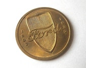 Ford V8 Brass Token Medallion quot Thirty Years of Progress 1903-1933 quot Chicago Worlds Fair