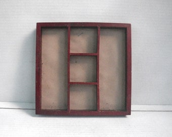 Jewelry Storage Tray Accessory Drawer Organizer AS IS / 5 Section Shallow  Wood Box