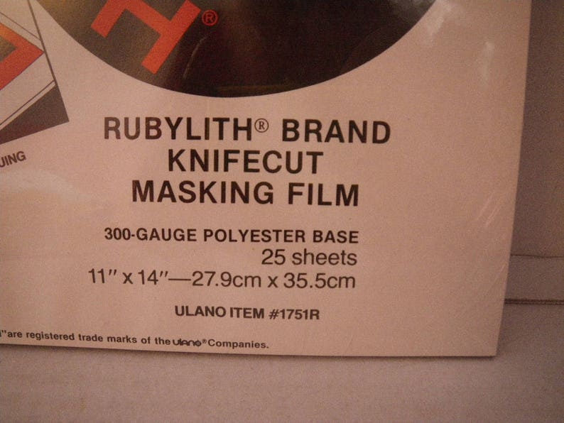 """SIZE 11"""" X 14"""" RED RUBYLITH SINGLE SHEET"""