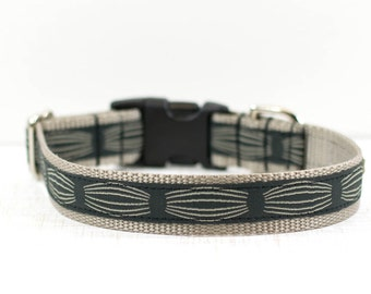 "1"" Medium Pinstripe Dog Collar, Striped Dog Collar, Pinstripes Collar, Boy Dog Collar, On Sale, 12-19"""