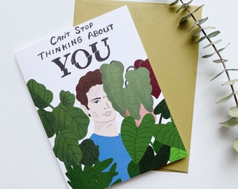 Can't Stop Thinking About You, Love Card, Love Card, Netflix Card, Netflix and Chill Card, Gift for Her, Gift for Him