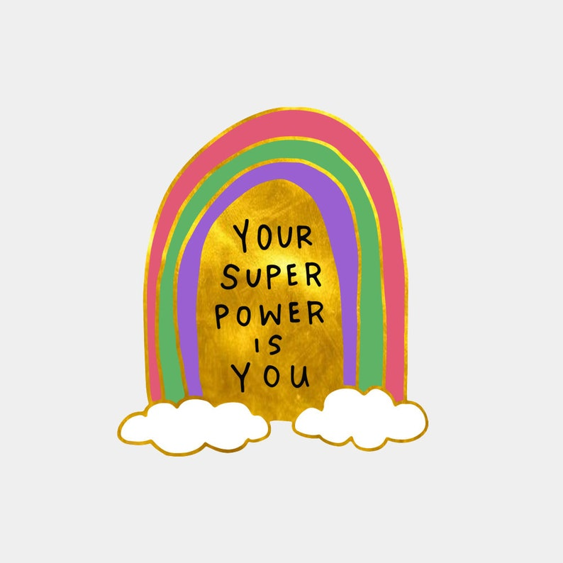 Your Super Power Is You Enamel Pin Rainbow Pin Pride Pin image 0