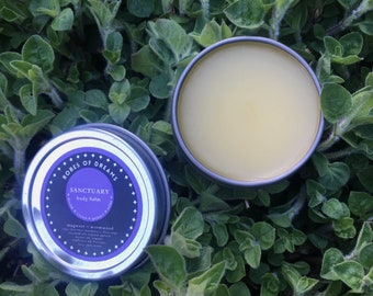 SANCTUARY - Wormwood + Mugwort Body Dream Balm, with clary sage and rosemary - dream, vision, psychic protection, massage oil