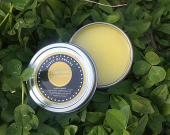 LUMINOUS - Helichrysum Face + Body Balm, with frankincense and geranium, anti-aging, skin repair, face oil, skin healing, uplifting, clarity