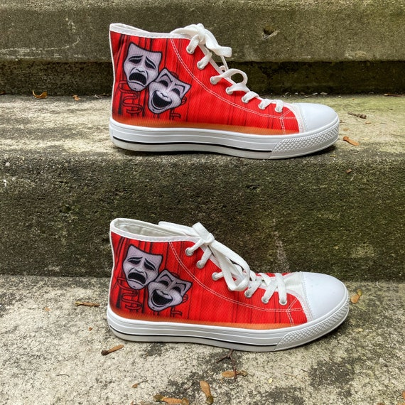 Vintage 90s Red White and Black High Top Theater S